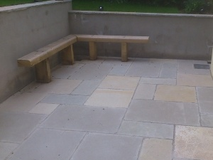 Patio With Bench